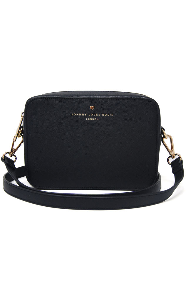 Small Crossbody Bag in Black by Johnny Loves Rosie