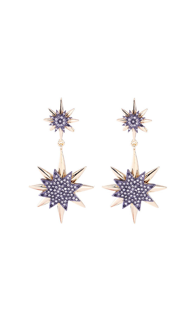 Twin Star Earring in Gold by LAST TRUE ANGEL