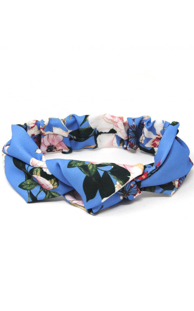 Azure Blue Floral Headband by Johnny Loves Rosie