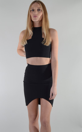 Black Bandage Co-ord Crop Top And Skirt by LOVEMYSTYLE