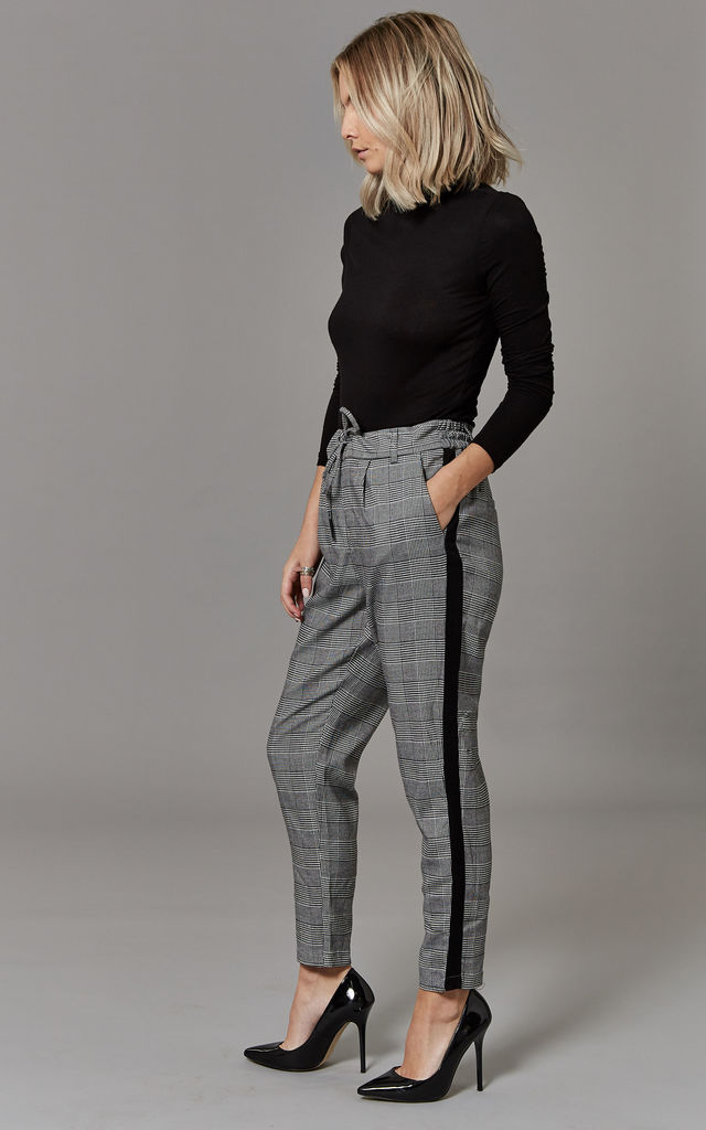 Black Check Pants by ONLY