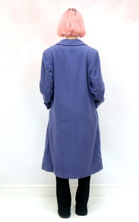 1980s vintage purple wool winter coat by Colour Me Vintage