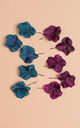 Bronwen Hydrangea Bobby Pin Set - Plum by Crown and Glory
