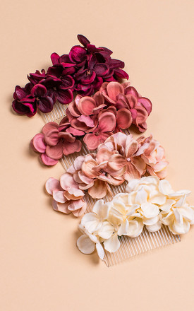 Bronwen Hydrangea Blossom Comb - Blush Pink by Crown and Glory