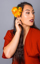 Autumn Oversized Peony Clip - Amber by Crown and Glory
