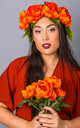 Autumn Oversized Peony Crown - Rust by Crown and Glory