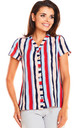 Striped v-neck top by AWAMA