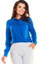 Blue front pocket long sleeve shirt by AWAMA