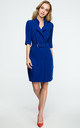 Royal Blue Belted Blazer Dress by MOE