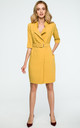 Yellow Belted Blazer Dress by MOE