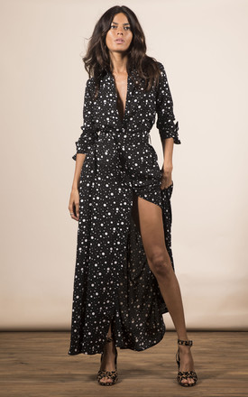 Dove Dress In Black Speckle by Dancing Leopard Product photo