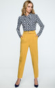 Mustard Yellow High Waist TaperedTrousers by MOE