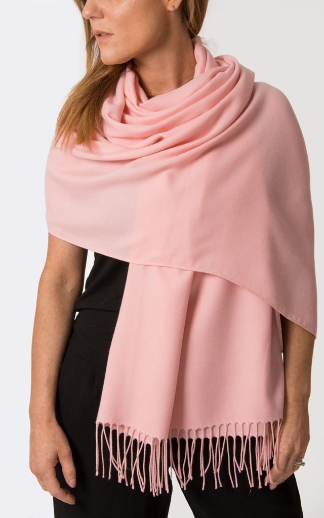 Apple Blossom Pink Pashmina by number 37