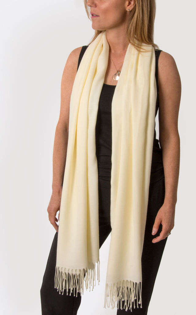 Cream Pashmina by number 37
