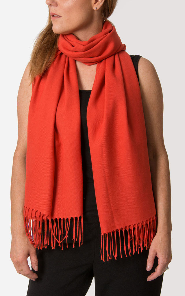 Mandarin Red Pashmina by number 37