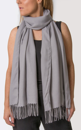 Mid Grey Pashmina by number 37