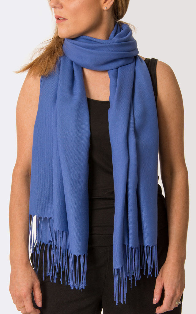 Royal Blue Pashmina by number 37