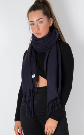 Navy Pashmina - Winter Weight by number 37