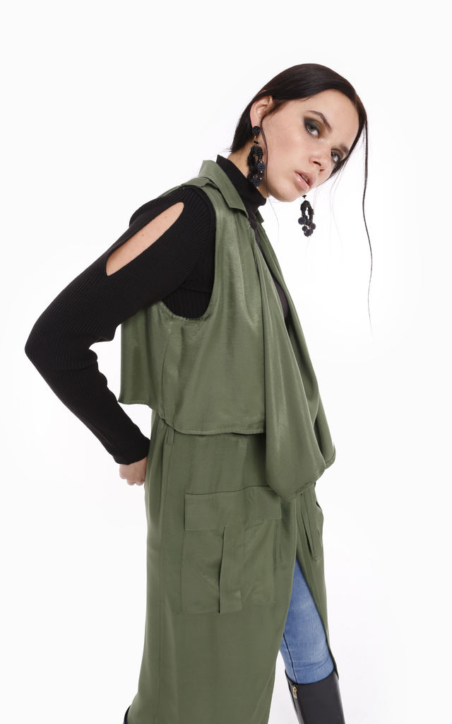 Asymmetric Cut Stylish Gilet by Store WF