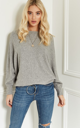 Grey Oversized Jumper With Long Sleeves by Bella and Blue