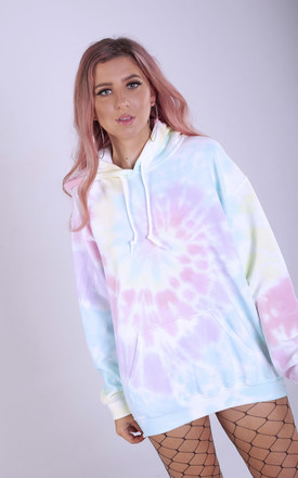 Oversized Hoodie in Pastel Rainbow Tie Dye by LimeBlonde