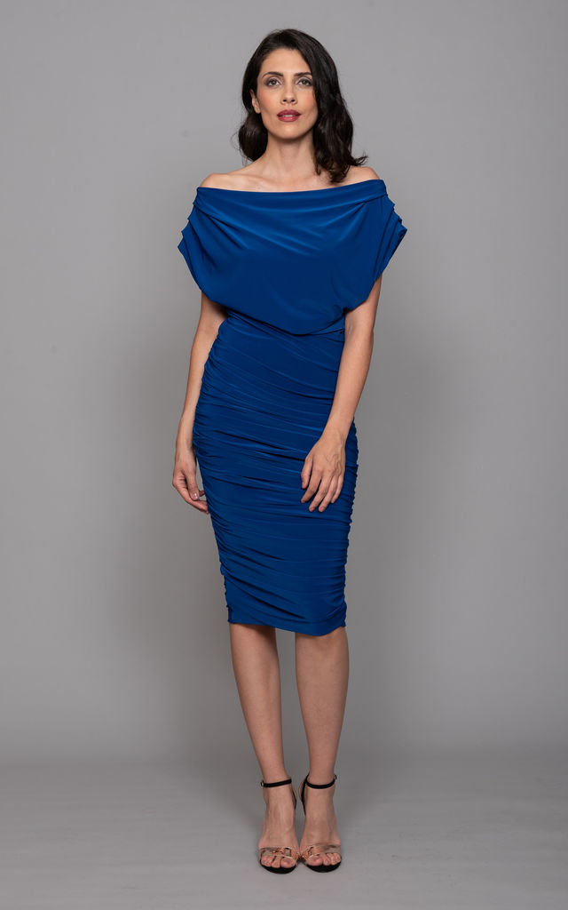 Cobalt Off Shoulder Bodycon - Oxygen by ATOM LABEL
