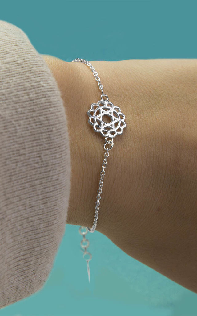 Sterling Silver Heart Chakra Bracelet by Martha Jackson Jewellery