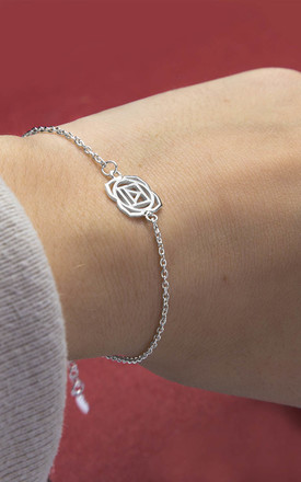Sterling Silver Root Chakra Bracelet by Martha Jackson Jewellery