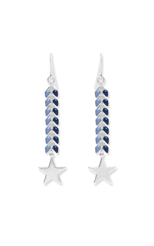 Eloko Blue Star Earrings by Boho Betty