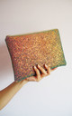 Glitter Clutch Bag in Copper Shimmer by Suki Sabur Designs