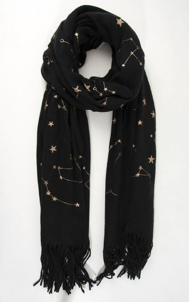 Black Constellation Blanket Scarf by Nautical and Nice Ltd