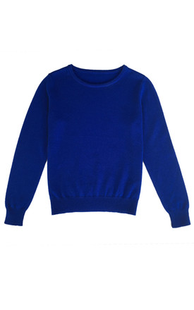 Cashmere blend jumper in blue by IGGY & BURT