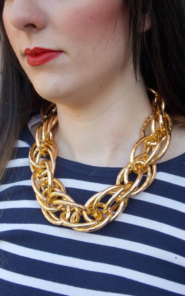 Chunky Gold Chain Necklace by Olivia Divine Jewellery