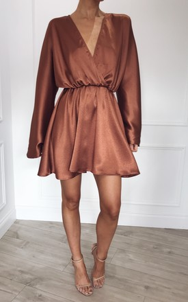 Penny Dress   Copper by Pretty Lavish Product photo