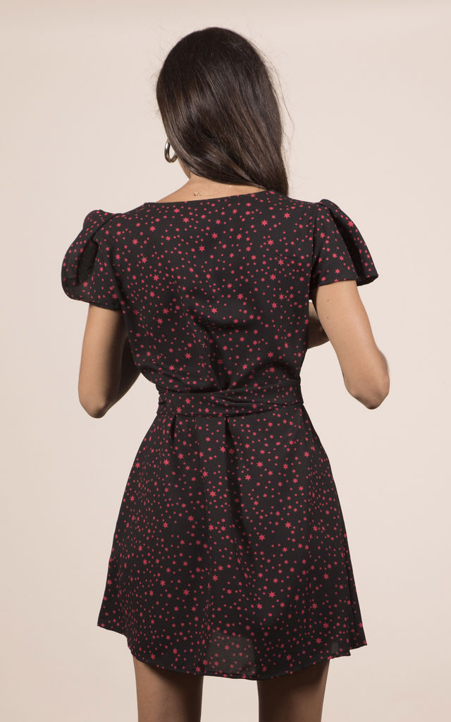 MAE DRESS IN MIDNIGHT RED STAR image