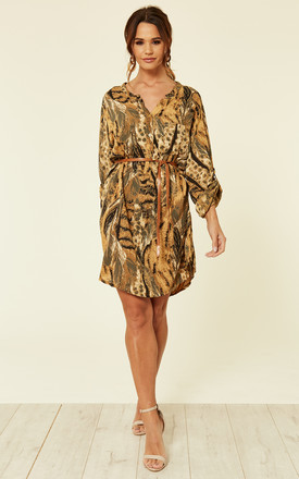 Animal Print Shirt Dress by ROCK KANDY Product photo