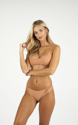 Maya Top in Sand by Larni Swim