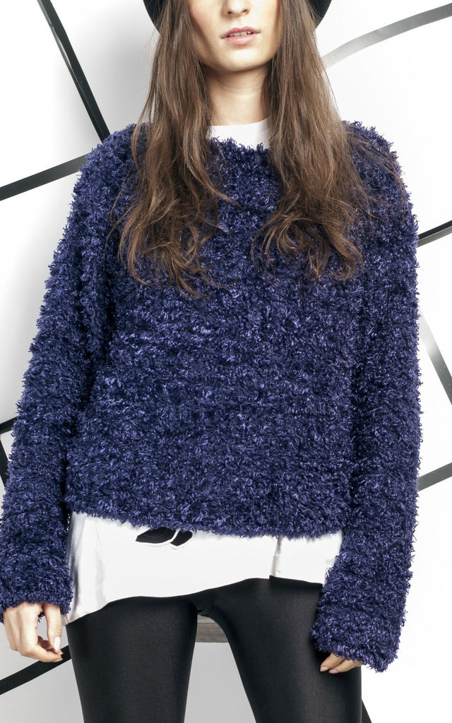 90s vintage fluffy knit jumper by Pop Sick Vintage
