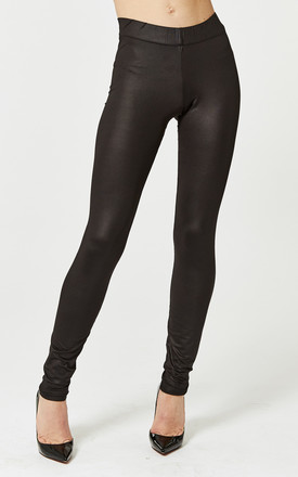 Black Leather Look Leggings by Noisy May Product photo