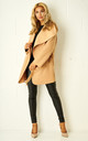 Teddy Camel Borg Waterfall Shawl Collar Coat by Frontrow Limited