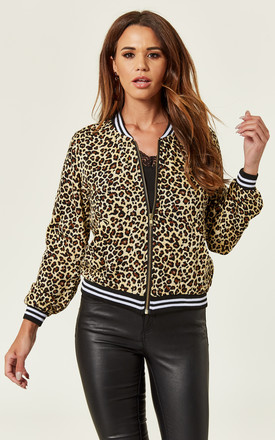 Leopard Bomber Jacket by Ruby Rocks Product photo