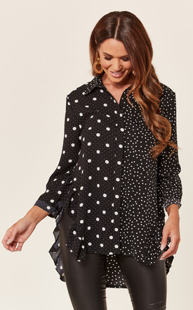 Black Polka Dot Mix And Match Shirt by ANGELEYE Product photo