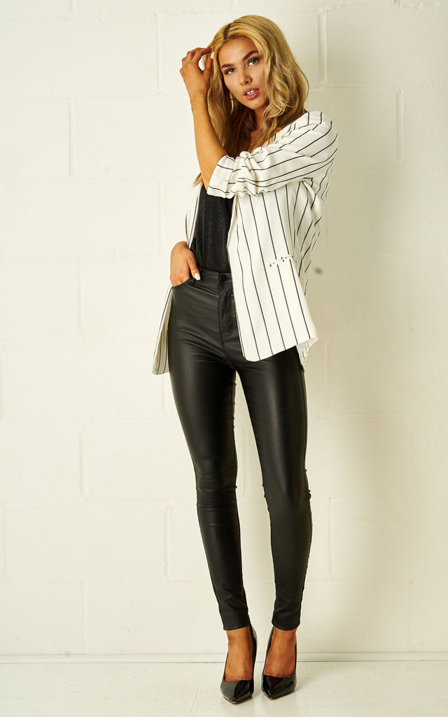 Harley Black And White Pinstripe Blazer by Frontrow Limited