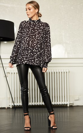 Ambre Blouse   Leopard Black by Pretty Lavish Product photo