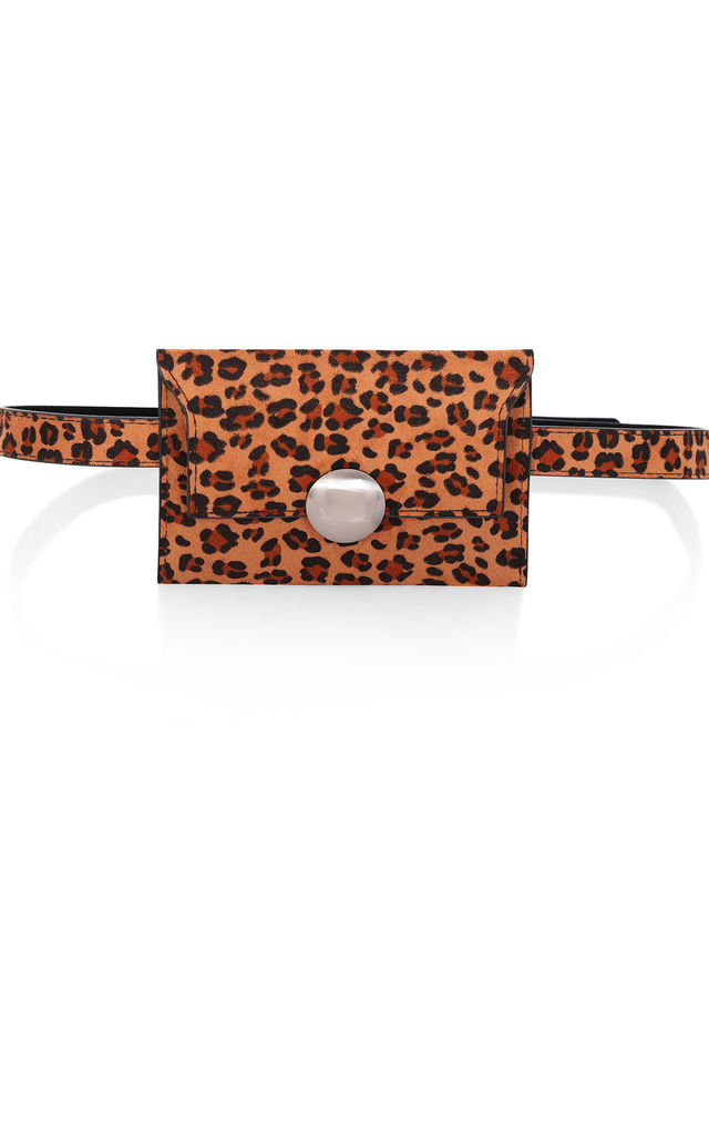 Leopard-Print Envelope Belt Bag by Rogue Fox