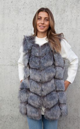 Soho Silver Grey Faux Fur Panelled Gilet by Styled In London Product photo