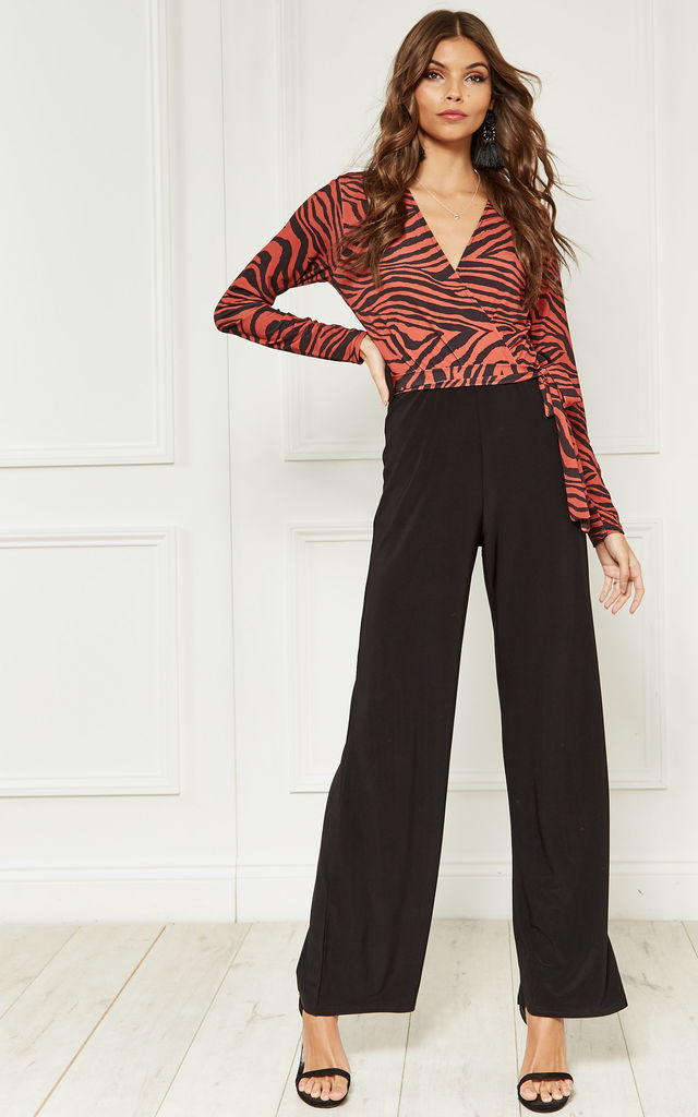 Red and Black Zebra Tie Jumpsuit by Bella and Blue