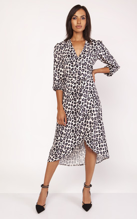 Wrap Dress In Leopard Print by Lanti Product photo