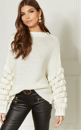 Cream Cable Knit Jumper by Bella and Blue Product photo