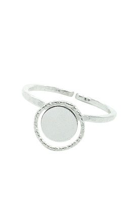 CIRCLE DISC ADJUSTABLE RING STERLING SILVER by Lucy Ashton Jewellery